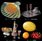 餐具食物模型