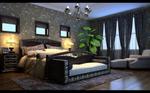 现代感卧室模型