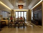 简约中式客厅
