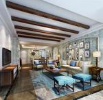 美式客厅模