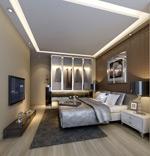 家居现代卧室模型