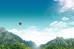 清新热气球美景