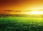草原黄昏美景