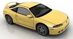 黄色跑车模型