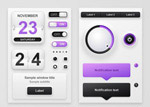 紫色网页控件按钮