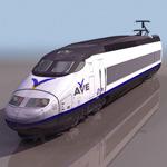 高铁火车3D模型