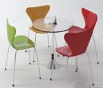 洽�桌椅�M合模型