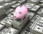 美元钞票与储蓄罐