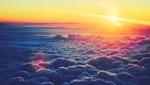 夕阳下的云层