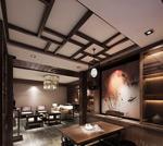 中式茶馆模型