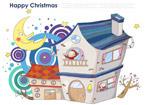 圣诞卡通房屋