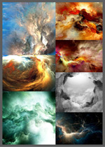 闪电云层图片