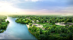 公园绿化效果图