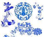 青花瓷花纹