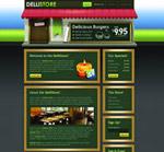 绿色系网站界面