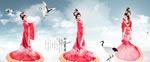 仙境红衣仙女