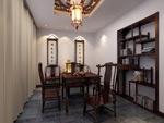 中式书房模型