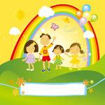 儿童节快乐矢量