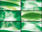 绿色动感展板