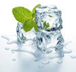 冰块与薄荷叶