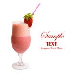 草莓口味奶昔
