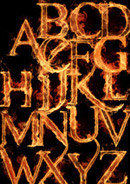 火焰字母psd