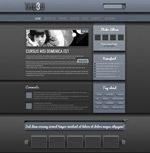 黑色酷炫网页模板