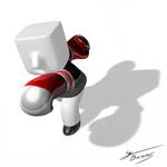 3D拳击手PSD