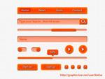 橘红网页按钮