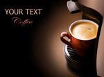 咖啡机与咖啡杯