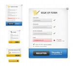 网页注册登录框