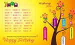 生日祝福墙