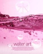 粉色浪漫水珠
