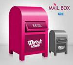 粉色邮箱图标