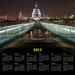 2013年日历图片