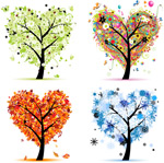 四季爱心树