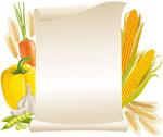 食材和纸张矢量