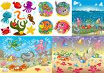 炫彩海底生物