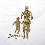 父亲节手绘海报