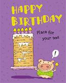 许愿猪生日插画