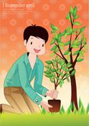 种树的男生