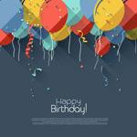气球装饰生日卡