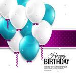 彩色气球生日背景