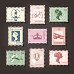 复古邮票设计