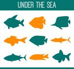 深海鱼类剪影
