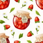 草莓果酱背景