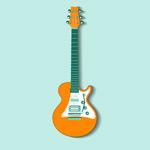 橘色吉他设计