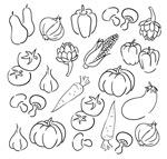 手绘蔬菜设计
