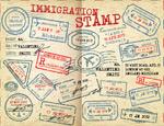 签证邮戳印鉴