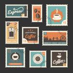 咖啡相关邮票